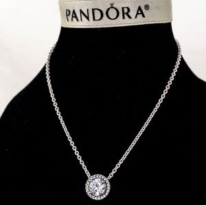 Pandora Classic Elegance Clear CZ Necklace